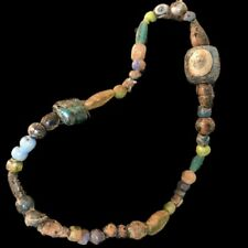 VERY RARE LARGE ANCIENT ROMAN MULTI COLOURED GLASS NECKLACE 1st Century