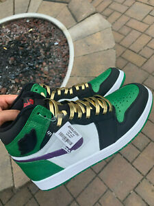 Custom Nike Air Jordan 1 Pine Green Size 10