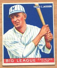 1933 Goudey R319 - #102 Travis Jackson - (HOF) - New York Giants ExMt+