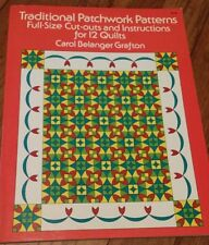 TRADITIONAL PATCHWORK PATTERNS - Full-Size Templates 12 QUILTS (Carol Grafton)