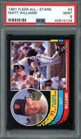 Matt Williams Card 1991 Fleer All-Stars #3 San Francisco Giants PSA 9
