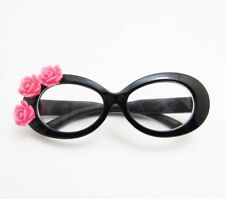 Black Tropical Glasses with Floral Accent for American Girl Dolls