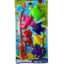 7PCS/SET Kids Magnetic Fishing Toy Plastic Fish Funny Game Baby Bath Rod Toys