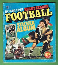 #T74.  SET 1983 SCANLENS RUGBY LEAGUE STICKERS & ALBUM