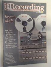 HOME & STUDIO RECORDING magazine April 1988 collectable