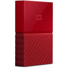Western Digital WD 4TB My Passport Portable Hard Drive - Red