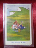 "Vintage Postcard ""Tell me the old, old story"" White Cliffs of Dover by Gilson"