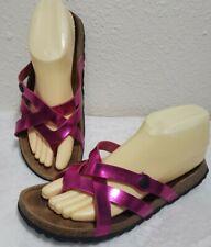 Birkenstock Betula Metallic Pink  Flip Flop Strappy Sandal Shoes Women's 8 EU 39