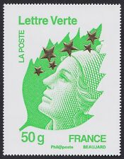 2012 FRANCE N°4662N** Maxi Marianne de l´Europe Etoiles d´Or (50gr LV) 60x78mm