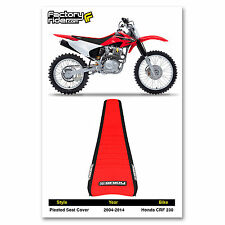 1995-1996 HONDA CRF 230 Black/Red PLEATED SEAT COVER BY Enjoy MFG