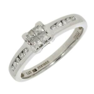 Platinum 0.25cts Diamond Solitaire Ring CH941