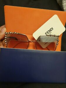 Fendi Silver Sunglasses Women (Orginal)