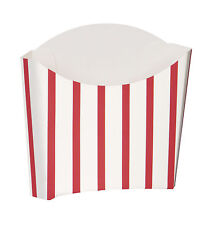 8 SNACK CONTAINERS - Retro Fast Hot Food Van/Picnic/Red & White Stripes #90683