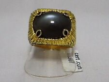 ANELLO ORO 18 KT pietra di luna gold moonstone ring Goldmondsteinring