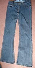 NEW Vintage 8 x 34 52096-931 Oakley Blu Boot Cut Bottone & Chiusura Zip Jeans Pantalone