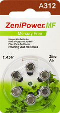 60 ZeniPower Mercury Free Hearing Aid Batteries Size: 312