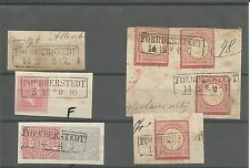 Pr Vor / FOERDERSTEDT 5 feinst-Pracht-Stücke, dabei Briefstück m. Pr. 10a, Brief