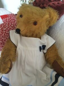 1940's Merrythought Antique Bear - Beautiful Cinnamon Mohair  21 Inches