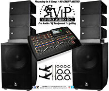 6x RCF HDL 6-A Line Array + X32 Mixer + 2x Yorkville ES18P Subwoofers + FLYBARS.