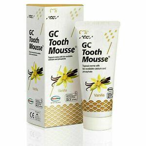 GC Tooth Mousse Teeth Remineralising Cream Strenthens - Vanilla 35ml
