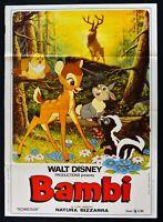 Werbeplakat Bambi Disney Zeichentrick Animation Rehkitz Reh Eule Hase M315