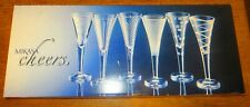 BOXED SET OF 6 MIKASA CHEERS 2 OZ CORDIAL GLASSES GREAT FOR SHOTS COCKTAILS WINE