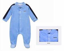 Hugo Boss Baby's J97162 78L Velour Nightgown Babygrow Blue Bodysuit playsuit