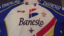 MAGLIA SHIRT VINTAGE  CICLISMO CYCLING BANESTO EXPO'92 BARCELONA SIZE 6