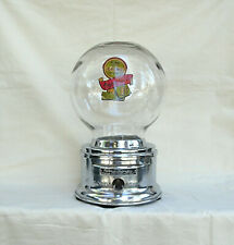 Chrome Penny  FORD Counter Top Glass Globe  penny Chicklet Vending Machine