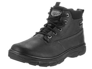 New $120 SKECHERS Air-Cooled Memory Foam Boots Ankle Comfort Shoes Mens Size 13