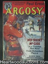 """Argosy"" Mar 4, 1939 Paul Ernst, Frank Richardson Pierce"