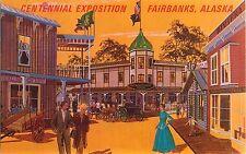 Centennial Exposition Fairbanks Alaska Postcard 1967 Gold Rush Town