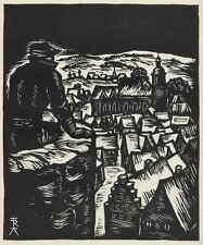 Rudolf KOCH - WINTERLICHE STADT - OriginalHolzschnitt 1937  HEYDER-Verlag BERLIN