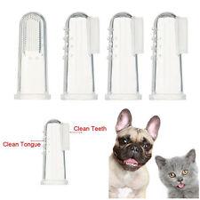 4 Pcs Hundezahnbürste Finger Zahnbürste Zahnpflege für Tier Haustier Hund Katze