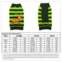 Dog Sweater ugly Christmas Small Medium Xmas Pet Puppy Cat Jumper Clothes XS-XXL