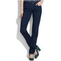 """madewell $115 Women's Sz 28 x 32 (W32"""" L31"""") Rail Straight Jeans Dark Wash"""
