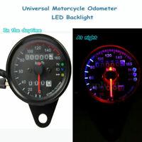 Universel Odomètre Moto Compteur de Vitesse Speedo Mètre LED Rétro-éclairage 12V