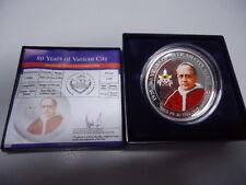 PALAU 2009 - 1 Dollar in Silber, PP - Farbe! 80 Jahre Vatikan City, 2009 Stück