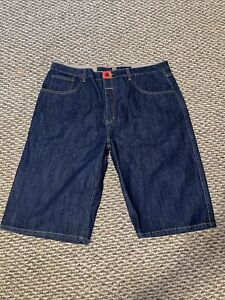 "MARITHE FRANCOIS GIRBAUD ""BLUE"" BRAND X Long Jean Shorts Dark Denim Mens Size 40"