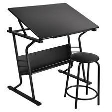 Modern Adjustable Drawing Table Tiltable Tabletop Art Craft Drafting Board