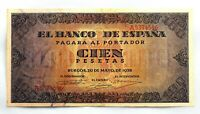 Spain Guerra Civil-Billete. 100 Peseta 1938. Burgos. EBC+/XF+ Escaso