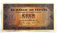 Spain Guerra Civil-Billete. 100 Peseta 1938. Burgos. EBC+/XF+ Escaso