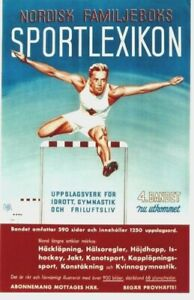 Original vintage poster SCANDINAVIAN SPORT LEXIKON HURDLES 1942