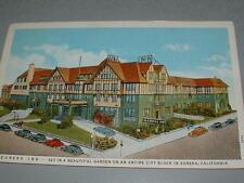1940's EUREKA, CA Vintage Postcard, EUREKA INN, Motel with old cars in front