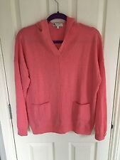 Next Coral Cashmere Hooded Jumper, Size 10, WORN ONCE