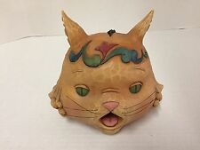 Whimsical Figural Jim Shore CAT Head Bird HOUSE