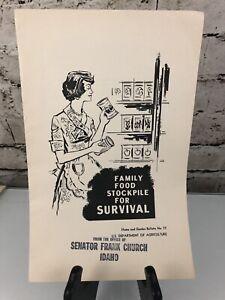 Stockpile For Survival Publication Ephemera Survivalist Family Food Vintage 1961