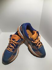 Asics Gel Nimbus 17 Womens Running Shoe Size 8.5 Wide Blue Orange