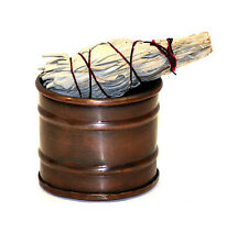 Smudge Pot Metal Drum burner, 3 inch perfect to burn sage FREE SHIPPING