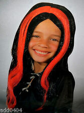 Streaked witch wig - black with red child 8+ one size fits most - HALLOWEEN NIP